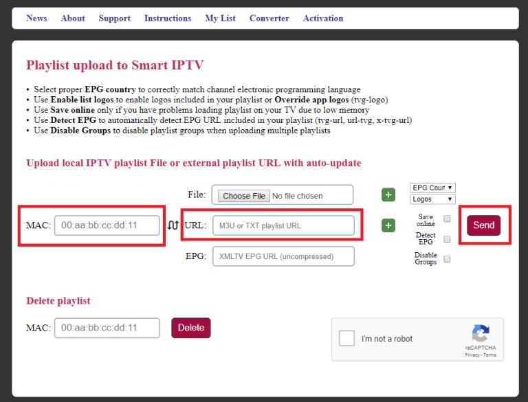 IPTV على تلفزيون Samsung Smart TV